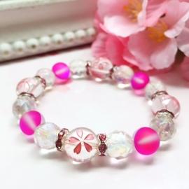 桜水晶ブレスレット